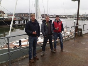 Skipper Ollie, Tim & Oly in Southampton. I felt like Grandpa!