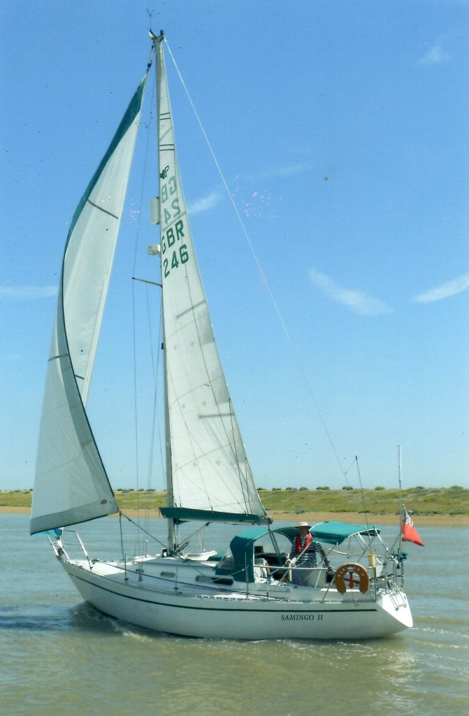 Samingo ll a Sadler 32, James's boat since 2006