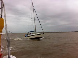 Leaving Walton Backwaters 'Sanderling'