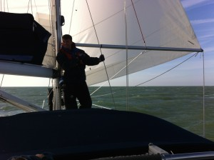 NW 5's.  Harry at the mast.