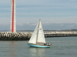 Harry sailing with Johan on his lovely 'Sallust' a Laurent Giles wooden boat built by Warf Curtis in 1974
