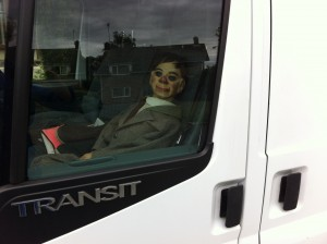 My former business complaints manager Billy, preferred the safety of the van
