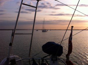 Anchored in Hamford Water