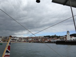 Leaving Scarborough Harbour