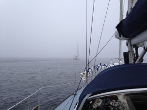 'Drunken Duck' leads us out from Wick in to poor visibility that was forecast to improve.