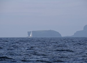 'Talisker 1' with a backdrop of Copinsay. Photograph courtesy of 'Drunken Duck'