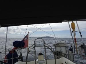 Behind us Fair Isle