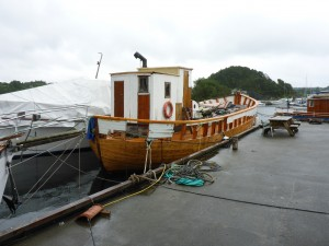 The oldest wooden boat still floating in Norway circa 1780