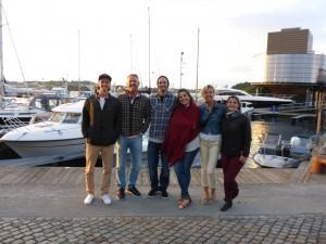 Sondre. Svein Erik, Vegard, Lucili's cousin, Ingeleiv & Vegard's girl friend Lucili