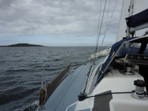 Heading N out of the fjord