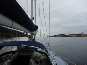 Motoring out of Ergusund