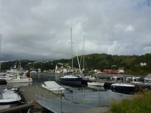A special place. 'Talisker 1' alongside the large blue Beneteau..