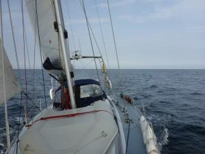 Sailing ... on passage to Grena