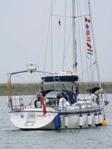 Home Port. Our mooring at Orford.
