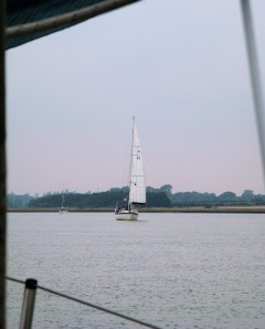 'Talisker 1' approaching Haversgate Island from the south
