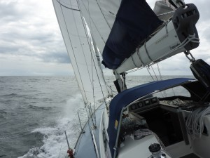 Close hauled in the lee of Langeland
