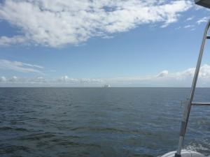 Leaving the Elbe