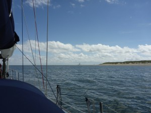 The marina is just round the headland
