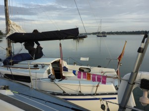 Early Friday! Anchored in the Orwell