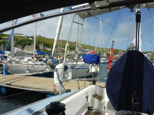 Moored behind 'Talisker 1' Chris and Caroline Gill's 'Cornelia ll'
