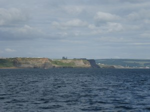 The Abbey above Whitby overlooking the North Sea