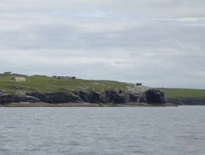 Gun emplacements guard the southern entrance to Scapa Flow