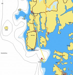 Haugesund to Kvitsoy Island 19th July 25.1 NM