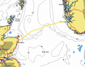 Stavanger, Norway to Peterhead, Scotland 21st, 22nd, 23rd July 265.9 NM