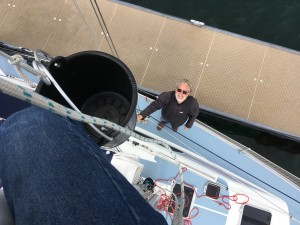 I'm looking up ... the expert is up the mast..