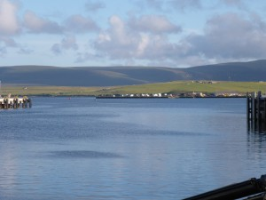 The entrance to Stromness Harbour