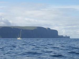 'Endeavor' and The Old Man of Hoy clearly visible to right of picture