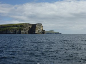 In the foreground the S tip of Bressay with the Isle of Noss behind
