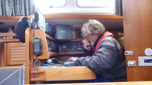 Reporting to Aberdeen CG having filed a passage plan. We are 30 NM from Peterhead. About 5 hours.