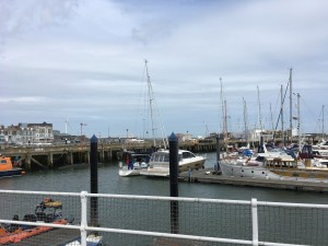 'Talisker 1' rafted to a friendly motor yacht Lowestoft. Royal Norfolk & Suffolk YC