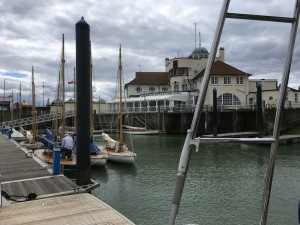 RN&S YC Broads One Design being prepared for 5 days of racing
