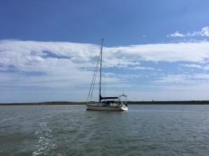 'Talisker 1' home on her mooring ..