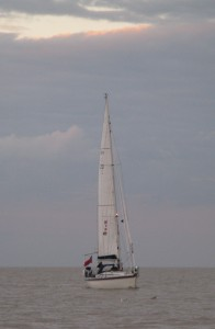 'Talisker 1' approaching the River Ore.  Picture taken by Doc.