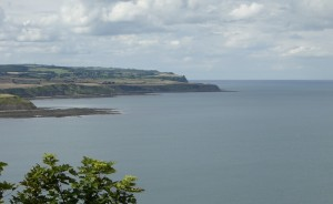 The view north from Scarborough Castle