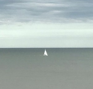 'Talisker 1' heading south. Brother Henry took this picture from Dunwich Cliffs.
